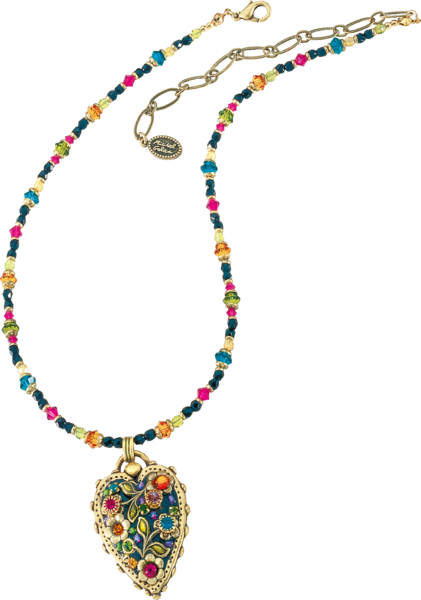 "Michal Golan: Collier ""Multi Flower Kristall"" - 1 Stk."